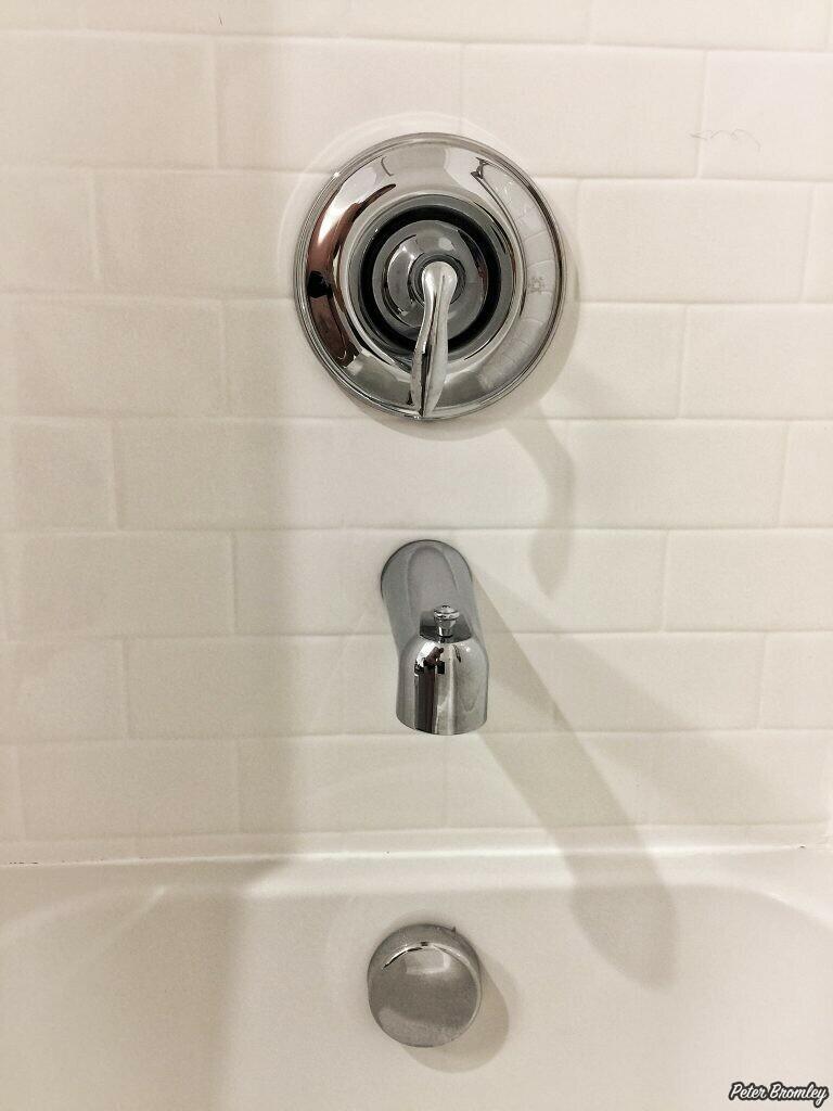 Shower controls in America.