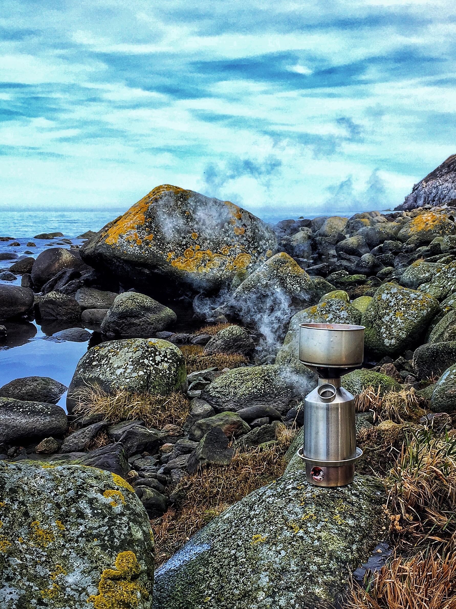 Bornholm's northern coast consists of raw rocks