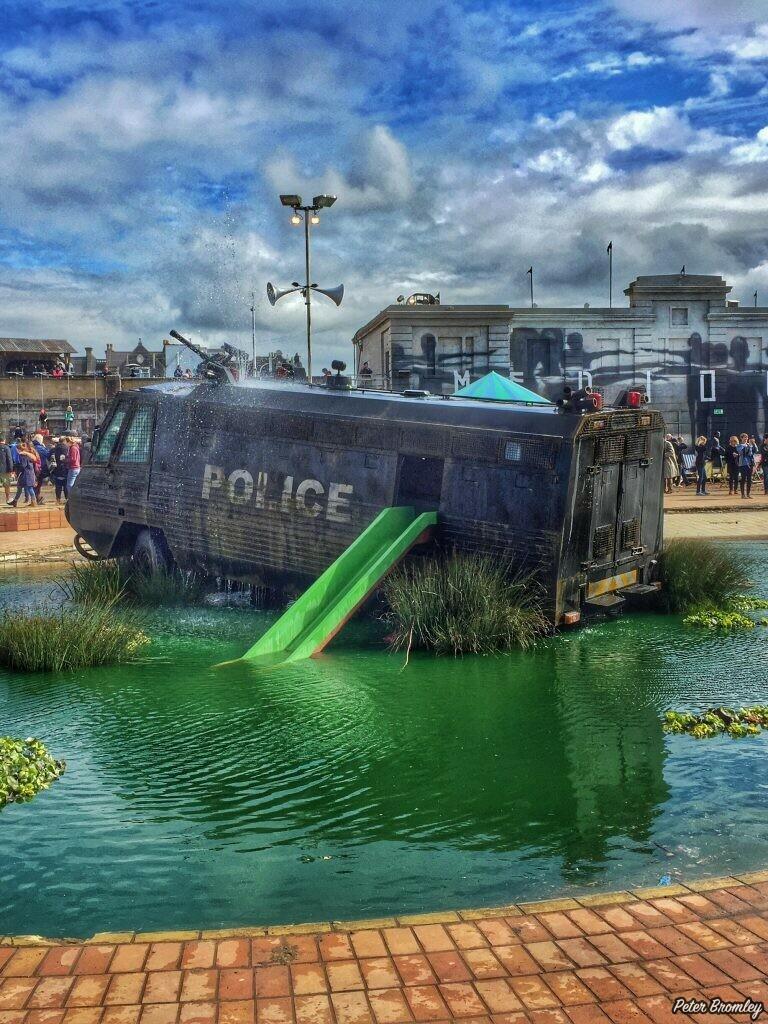 Banksy's gloomy SWAT Playground at Dismaland